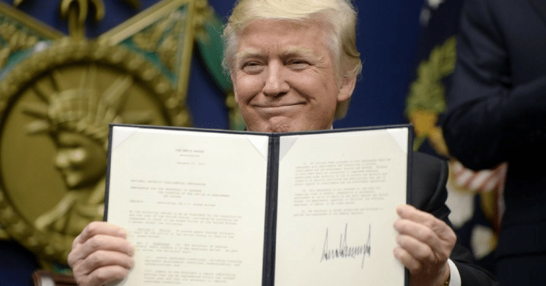 President Trump Signs Powerful Executive Order To Take Down Hillary's Holy Grail