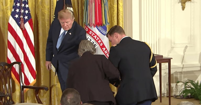 Seconds Before Awarding The Medal Of Honor, Trump Makes His Greatest Gesture Yet