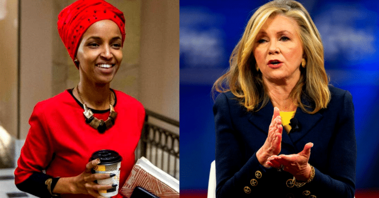 """Ilhan Omar Calls For """"Dismantling The Whole System"""" – Then GOP Senator Blackburn Drops The Constitution On Her"""
