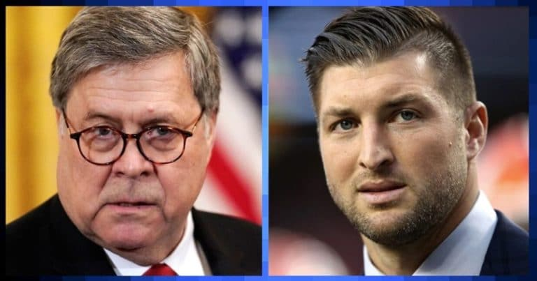 AG Barr Teams Up With Tim Tebow – They Just Joined Forces With $100M Grant Against Human Trafficking