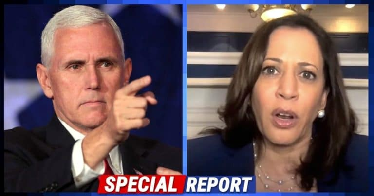 Kamala Tries To Claim Trump Lost China Trade War – So Pence Sets The Joe Biden Record Straight